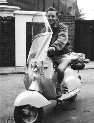 0001A-Alan riding La Cigale in London, 1956